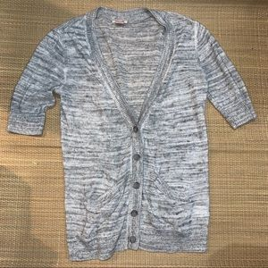 Mossimo Marbled Gray Cardigan Sweater Woman's XS